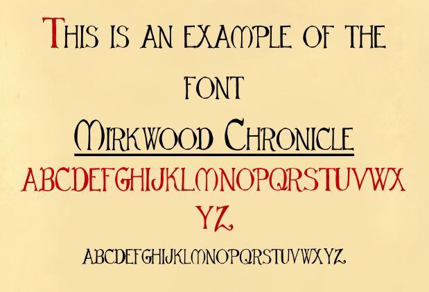Mirkwood Chronicle font