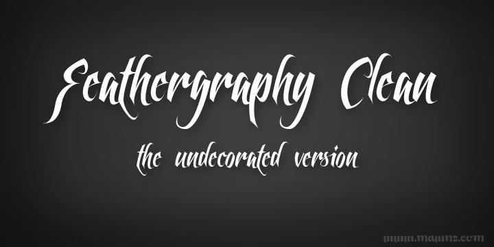 Feathergraphy font