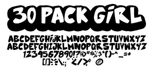 30 Pack Girl font