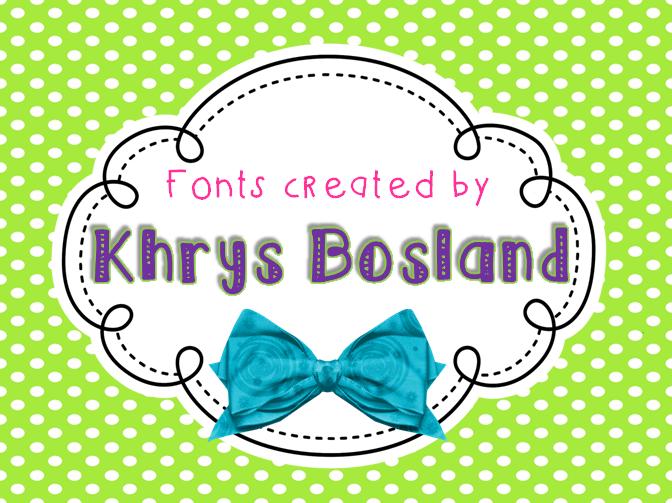 KB Skittled font