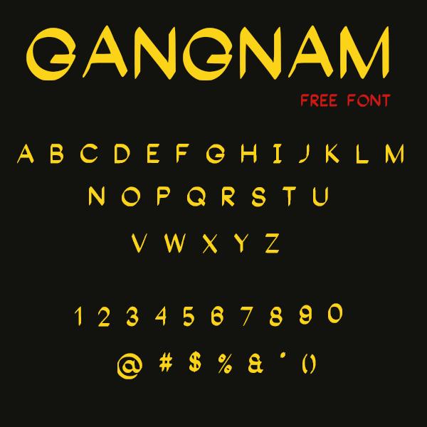 Gangnam font