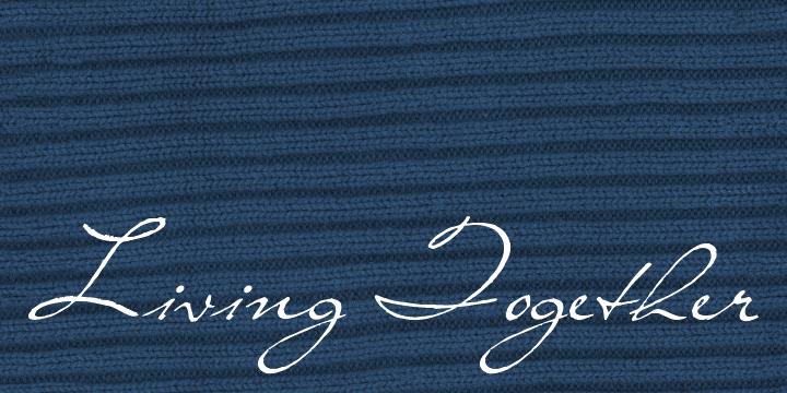 Living Together font
