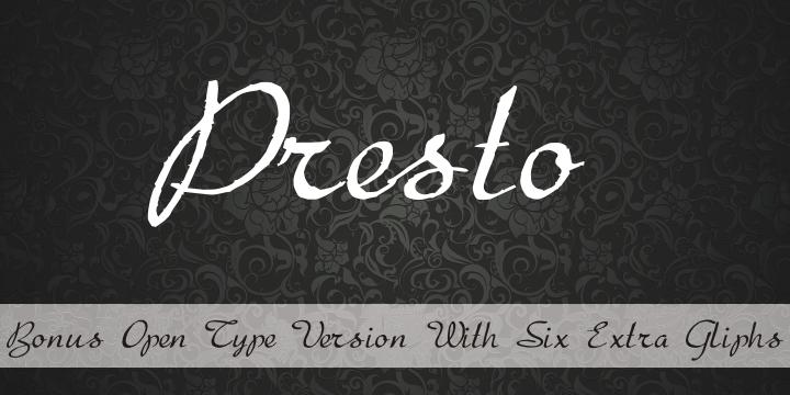 Presto font