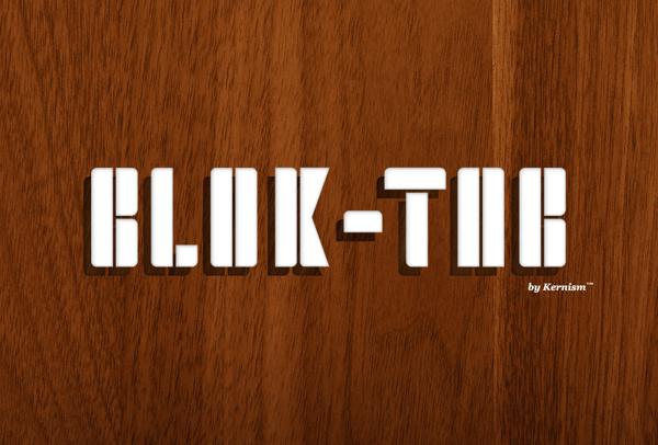 blok tab font