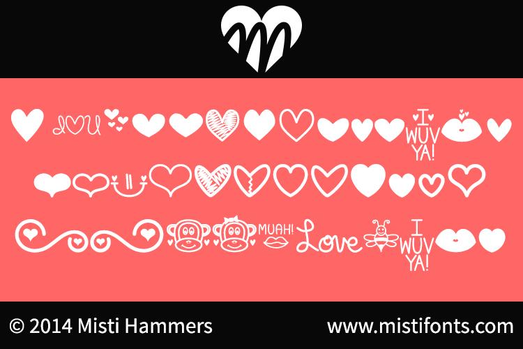 MF Love Dings font