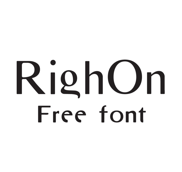 RighOn font