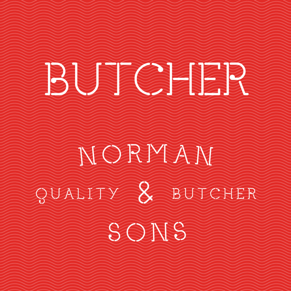 Butcher font