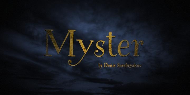 Myster Font Poster 1