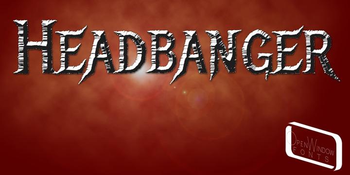 Headbanger Font Poster 1