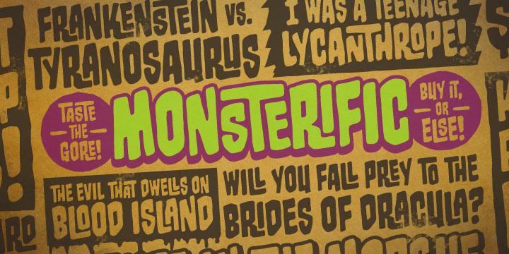 Monsterific BB Font Poster 1