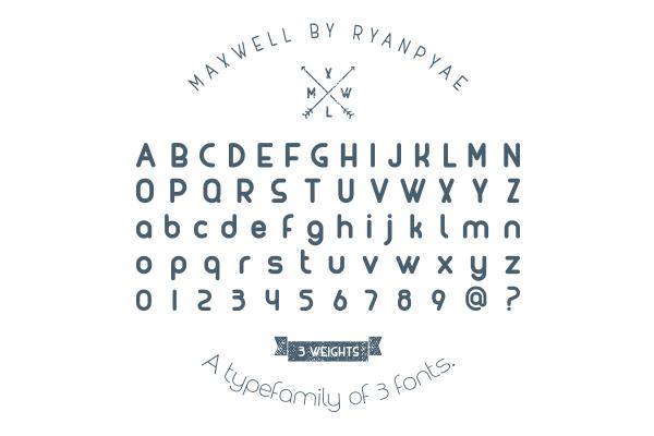 MAXWELL font