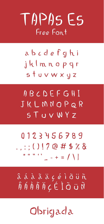 Tapas font
