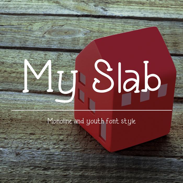 My Slab font