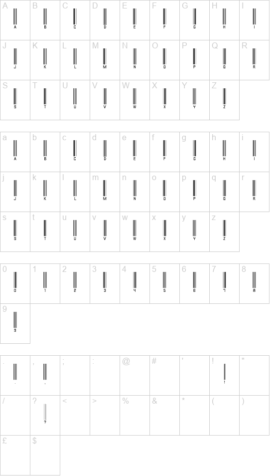 Barcode Font font