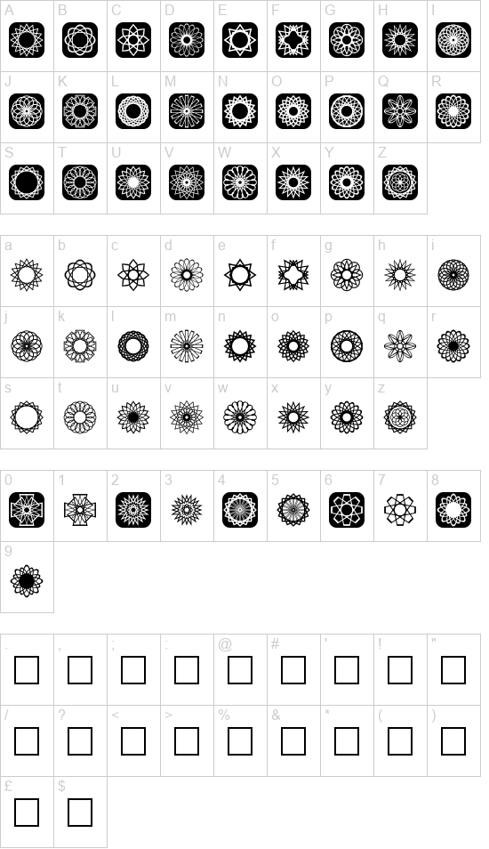 Symmetric Things 2 font