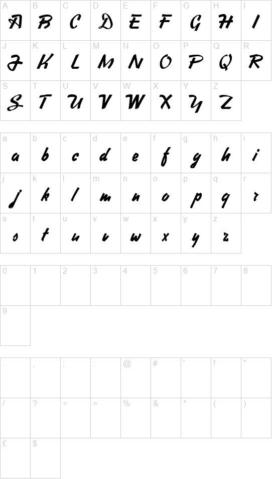 Heavy Squared Writing font