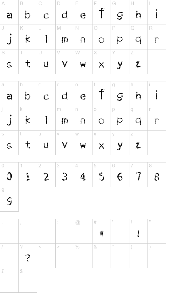 Sword Fighting font