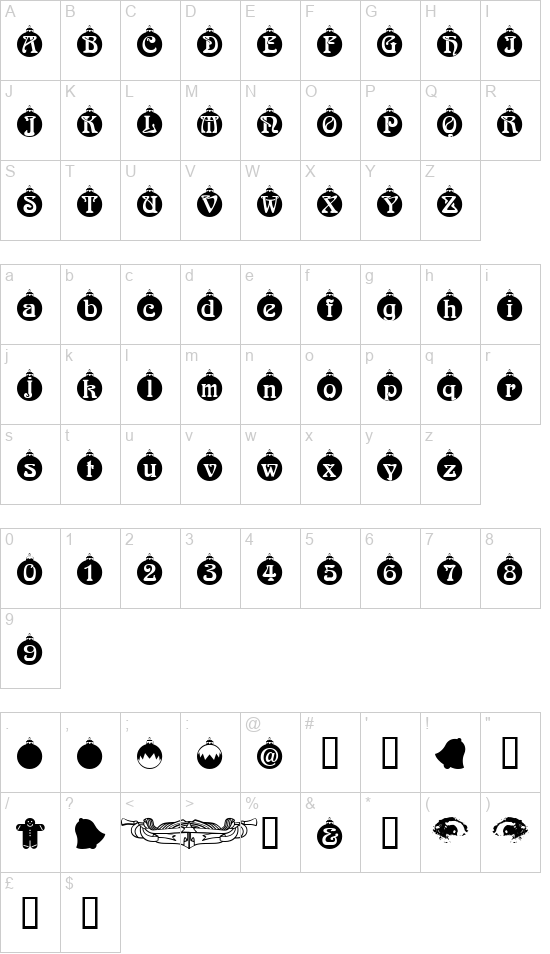 Christbau font