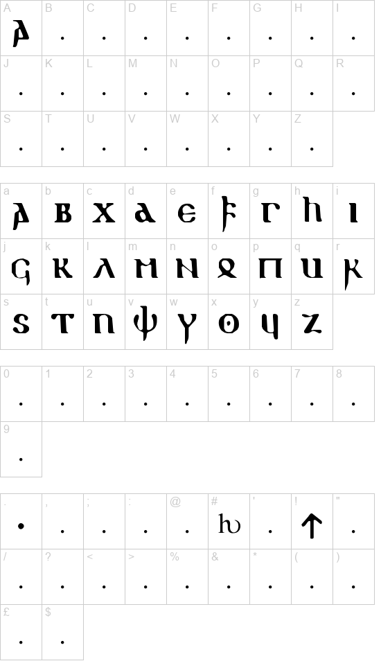 Gothic 1 font