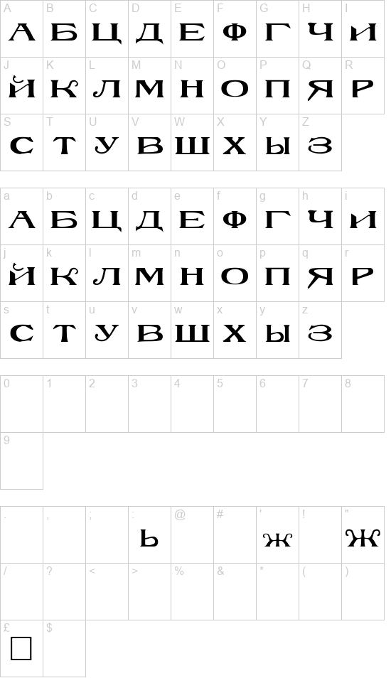 Rusk font