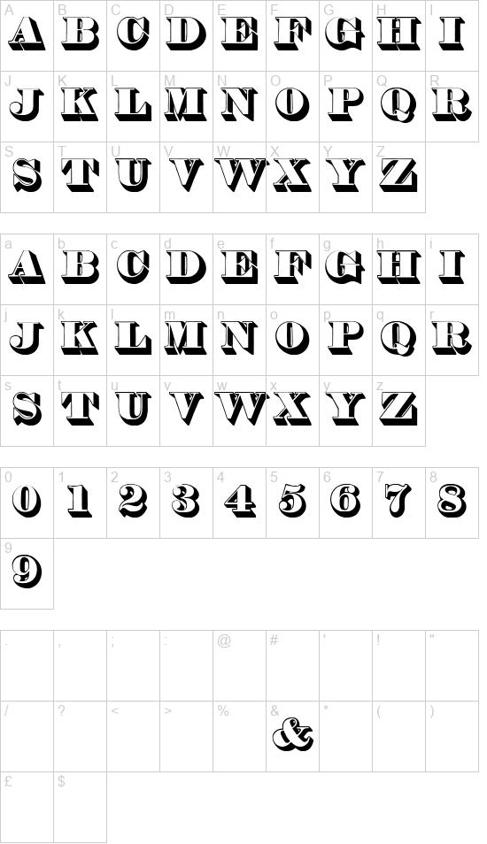 Thorneshaded font
