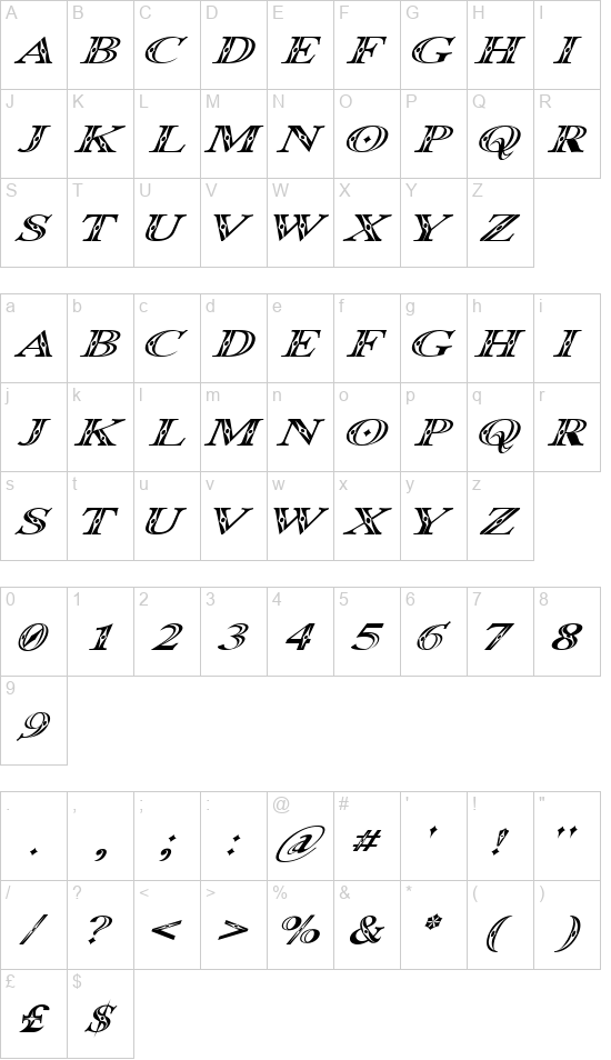 Occoital font
