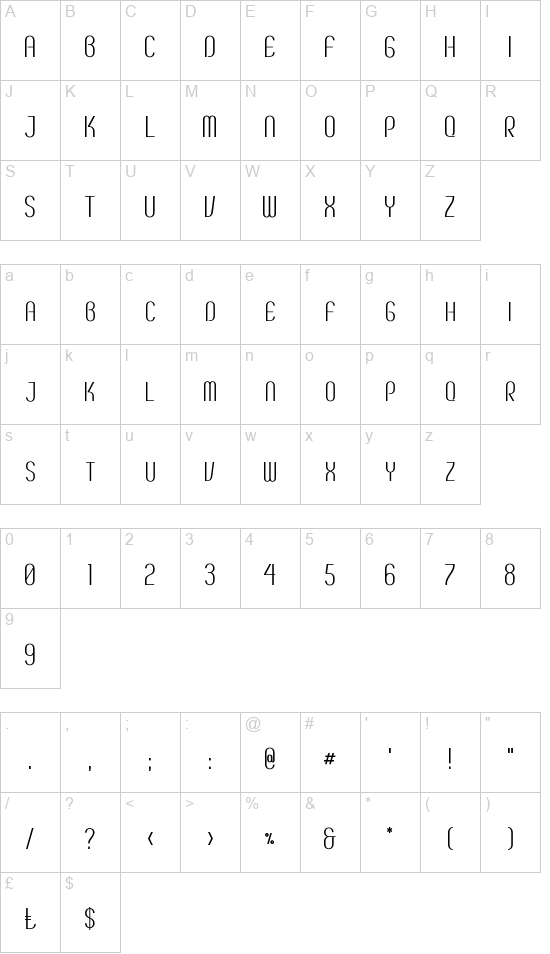 Breve SC font