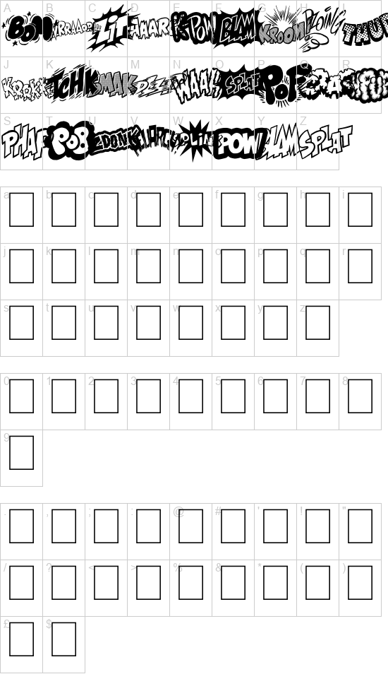 Onomatobom font
