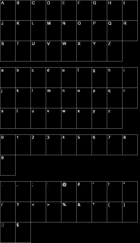 Squared hand font