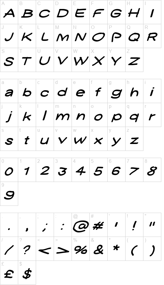 YUKATHIN N.CONTE SMILE font