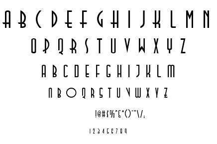 TallDeco font