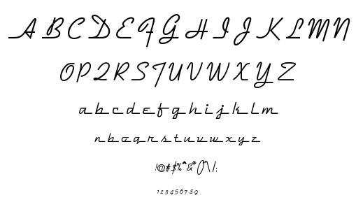 Dymaxion Script font