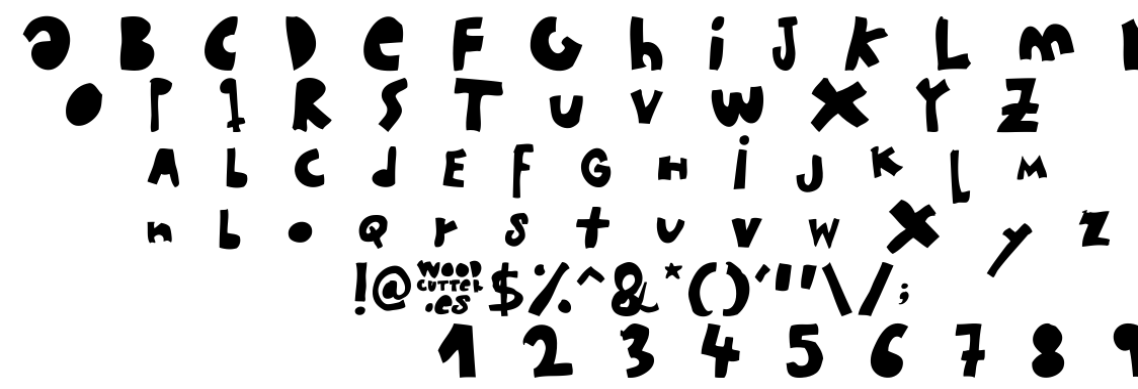 woodcutter MMXII font