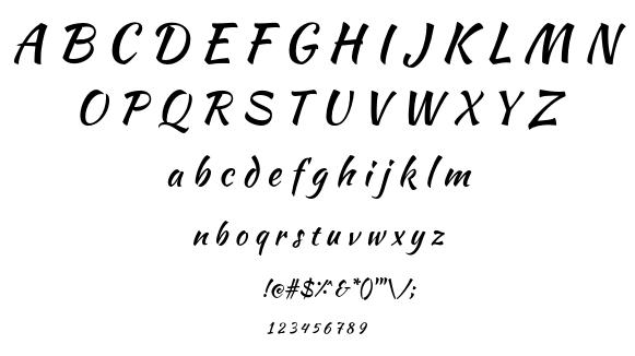 Kaushan Script font