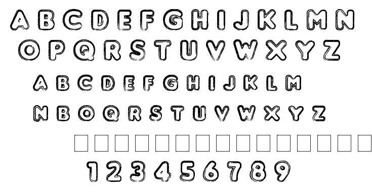 Punched font