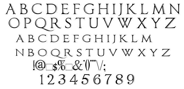 Imperator Bronze font
