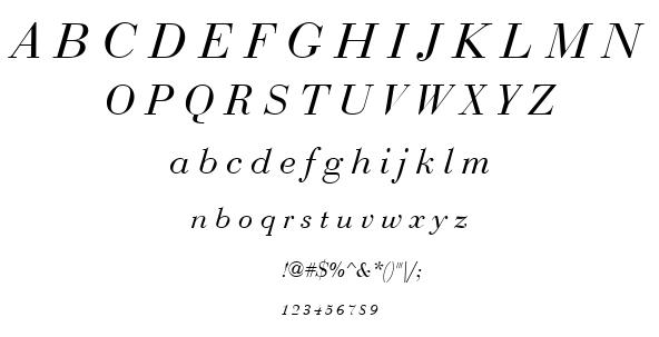 Bedini font