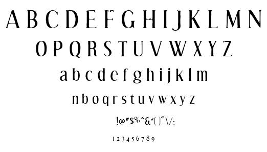 Efflant font