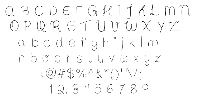 Bibs First Handwrite font