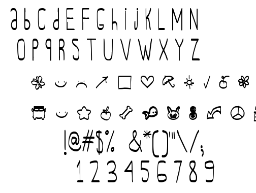 Oh Adrian Vickie font