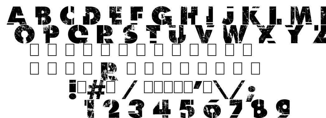 Dark net warrior font
