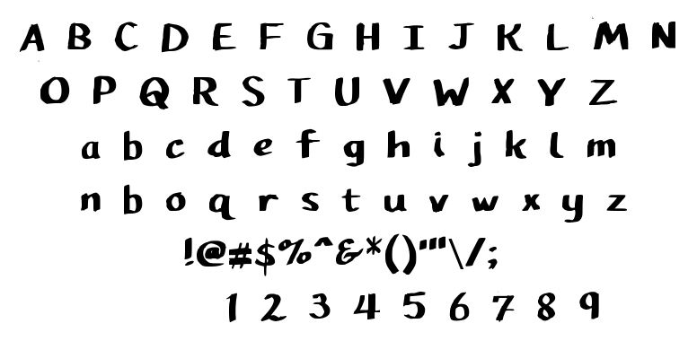 Pupil Caligraphic font