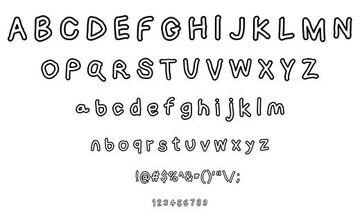 Loogie hawk font