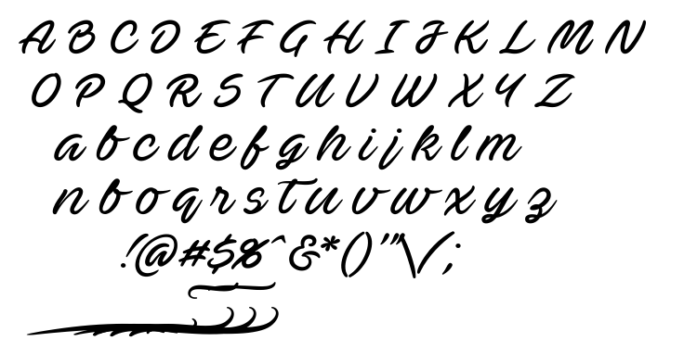 Ave betwan font
