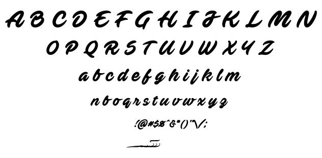 Ave fedan font