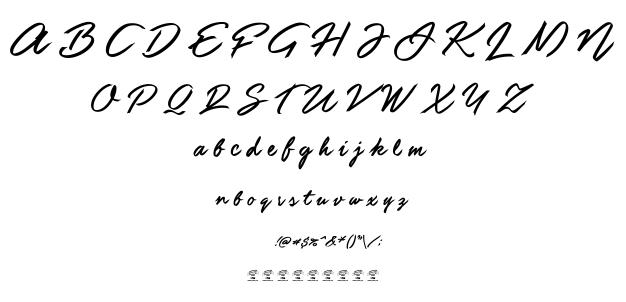 Guld script font