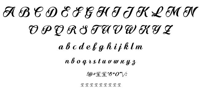 Quincho script font