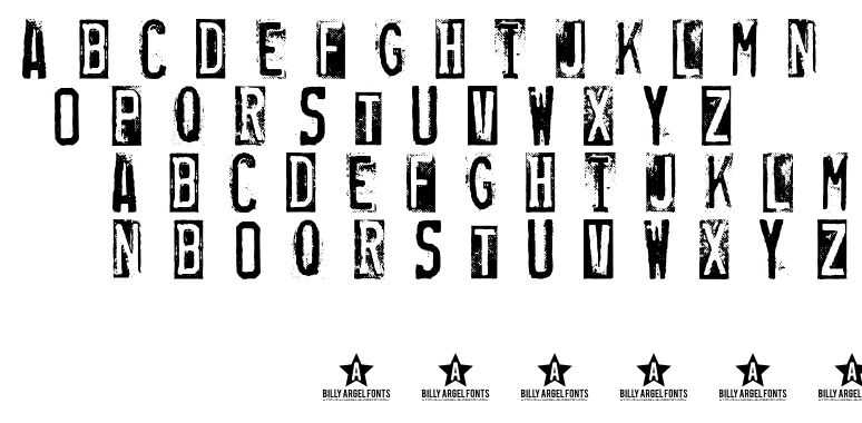 RUBBER STAMP font