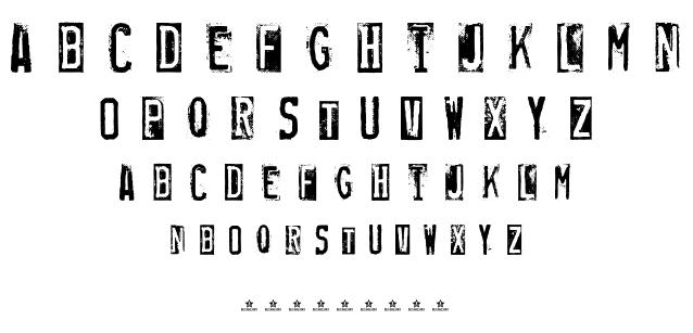 RUBBER STAMP font