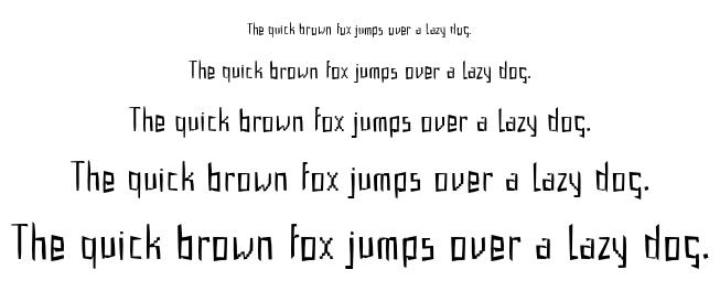 Gabardina font